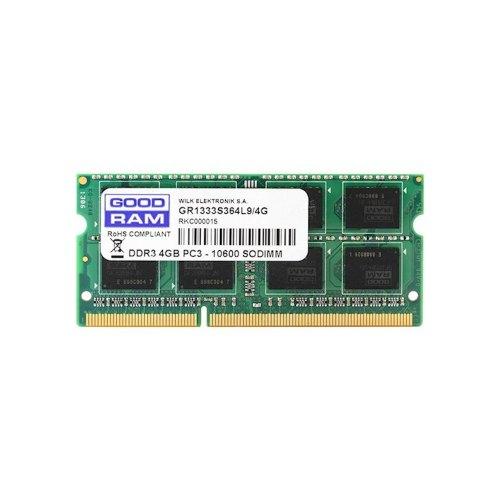 Модуль памяті SoDIMM DDR3 4Gb 1333 MHz GoodRam (GR1333S364L9/4G)