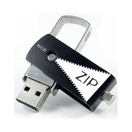 USB флеш 16Gb GoodRam Zip Black (PD16GH2GRZIKR9) чорний метал USB 2.0