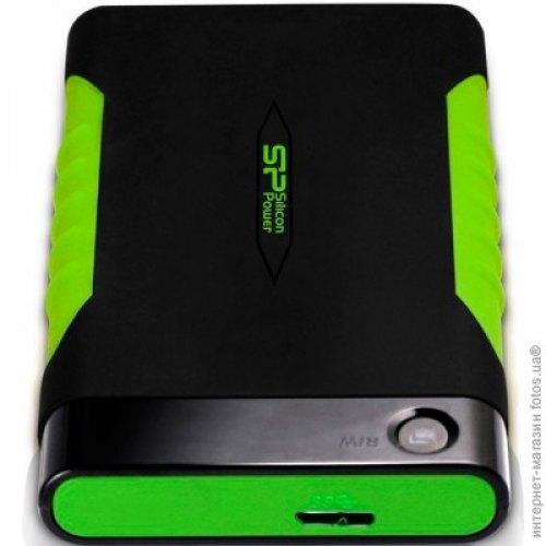 Зовнішній жорсткий диск 2.5 1TB Silicon Power (SP010TBPHDA15S3K) USB 3.0, Armor A15, гума, Black