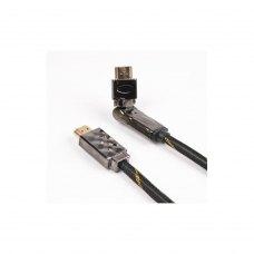 Кабель HDMI to HDMI  3.0m Viewcon (VD516-3m) 3 м, v1.4, золотисті конектори, поворотний коннектор
