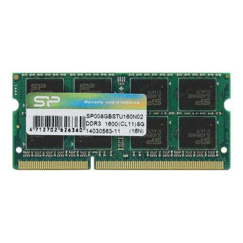 Модуль памяті SoDIMM DDR3 Silicon Power 8GB 1600 MHz (SP008GBSTU160N02)