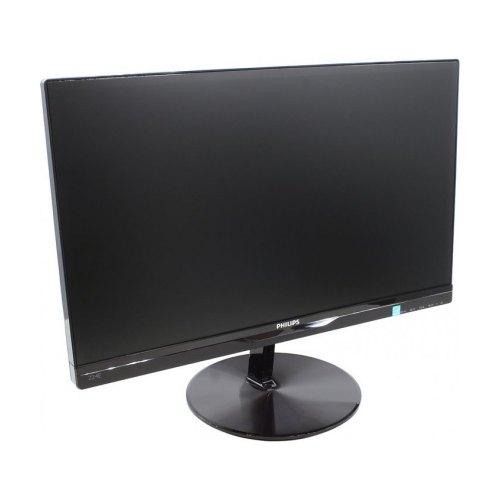 Монитор PHILIPS 224E5QSB/01 21.5'Wide, IPS с LED, 16:9, 1920х1080 (Full HD), 1000:1 (DC 20 000 000:1), 250 кд/ м2, 14мс, 176/ 170, DVI, VGA, нет, черн