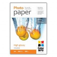 Папір ColorWay A4 (ПГ200-100) (PG200100A4) 200 г/м2, 100 аркушів, глянець