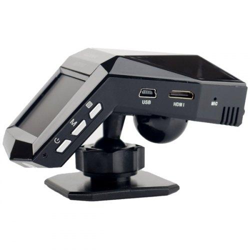 Відеореєстратор Globex GU-DVV007 Full HD (CMOS, кут огляду гориз./верт. - 140/98 град., MOV, 1920х1080/30fps, дисплей 2, розєм для карт памяті SDHC (