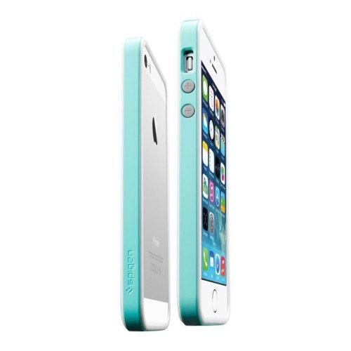 Бампер Spigen iPhone 5 / 5S / SE Neo Hybrid EX White Blue