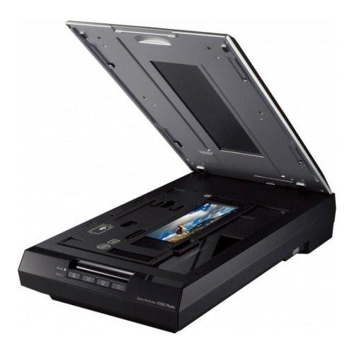 Сканер EPSON Perfection V550 Photo (B11B210303) офіц.гарантія, A4 (216x297 мм), CCD, 6400х9600 dpi, 48 бит, 3, 4D, слайд-модуль, USB 2.0, Windows, Mac
