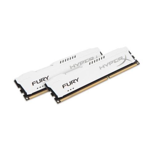 Модуль памяті DDR3 Kingston 8GB 1600MH z HyperX Fury White (2x4GB) HX316C10FWK2/8