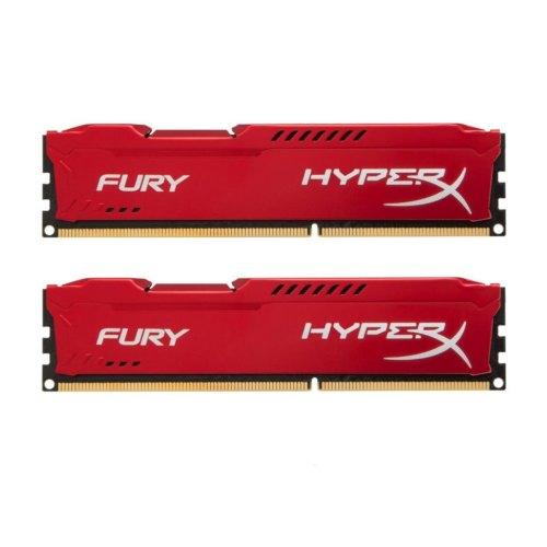 Модуль памяті DDR3, 16GB (2x 8GB) 1866MHz, HyperX Fury Red (HX318C10FRK2/16)