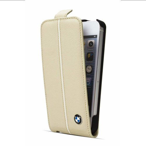 Чохол для телефону iPhone 5 / 5s BMW Signature collection leather cover case Cream