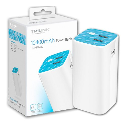 Power Bank TL-PB10400 10400mAh Power Bank, 2 USB ports(5V/1A, 5V/2A), 1 Micro USB port, Built-in flashlight, with Micro USB Cable