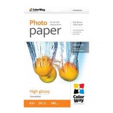 Папір ColorWay A3+ (ПГ180-20) 180 г/м2, 20 аркушів, глянець