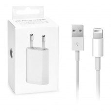 МЗП Apple 5W USB Power Adapter 1A (2in1) + Lightning cable MB707ZM/B high copy (box), White