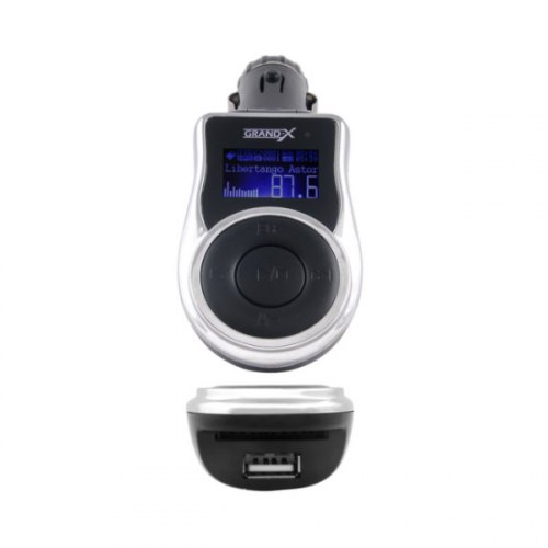 Автомобільний MP3-FM модулятор Grand-X CUFM77GRX Black SD/USB (CUFM77GRX Black)