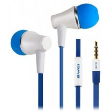 Навушники з мікрофоном (гарнітура), AWEI ES300i, White