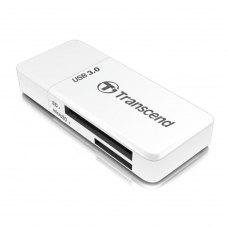Зчитувач флеш-карт Transcend TS-RDF5W внешний USB 3.0, белый, microSD, microSDHC, microSDXC, SD, SDHC, SDXC