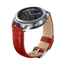 Ремінець шкіряний для Samsung Gear S3 Classic ET-YSA76MREGRU, Red Aligator