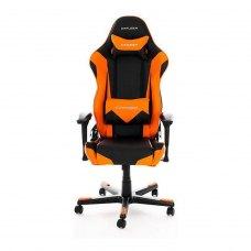Крісло для геймерів DXRACER RACING OH/RE0/NO (чорне/оранжеві вставки) PU шкіра, AL основа