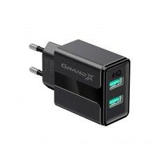 МЗП Grand-X USB 5V, 2,1A (CH-15) із захистом від перевантаження, Black