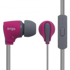 Навушники дротові з мікрофоном, Ergo VM-110 Pink