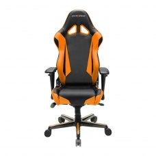 Крісло для геймерів DXRACER RACING OH/RV001/NO (чорне/оранжеві вставки) PU шкіра, AL основа