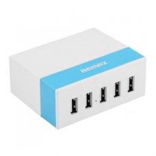 МЗП Remax USB Charger Youth Version RU-U1 (5 ports, 2.4A), Blue