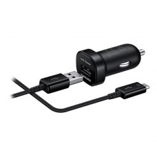 Автомобільний зарядний пристрій Samsung EP-LN930BBEGRU AFC Car Charger mini With Micro USB2.0 Cable Black