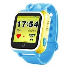 Смарт годинник дитячий Q200 (GPS Tracker, IP65,600mAh,1.54IPS) (Blue-Yellow)